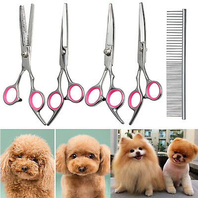 "6"" Pet Dog Professional Hair Cutting Scissors Grooming Kits Curved Shears Tool"
