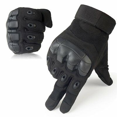 Touch Screen Tactical Military Gloves Rubber Hard Knuckle Full Finger Gloves BK