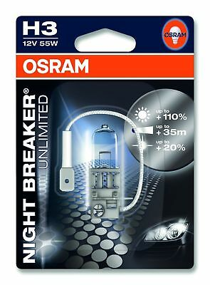 OSRAM H3 NIGHT BREAKER UNLIMITED HALOGEN-LAMPE 110% mehr Licht 12 Volt / 55 Watt
