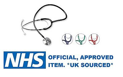 Ruby Nhs Quality Single Head Stethoscope For Emt Medical Doctor *uk Sourced* New