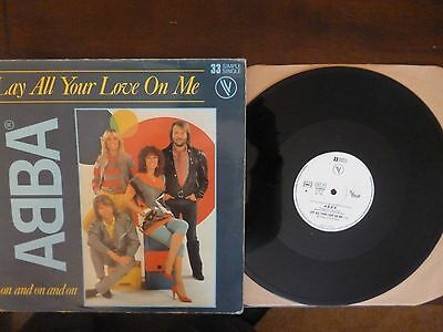 "Abba - Lay Your Love On Me - 12"" French Single ."