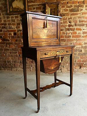 Antique Lady's Writing Desk Rosewood Bonheur Du Jour Victorian Circa 1890