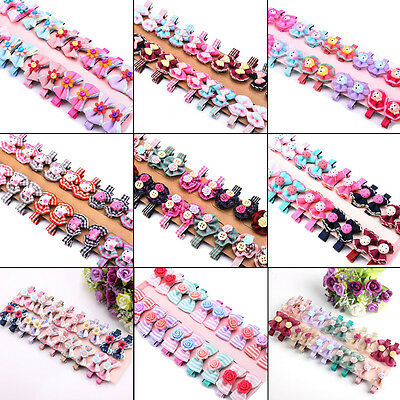 Wholesale 20pcs Mixed Toddler Baby Kids Girls Ribbon Bow Hair Alligator Clips