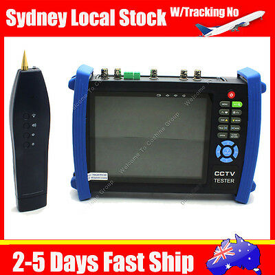"7"" 1024×600 CCTV Cam Monitor Video DVR Tester VGA+HD-SDI In/Out+TDR HVT-3600ST"