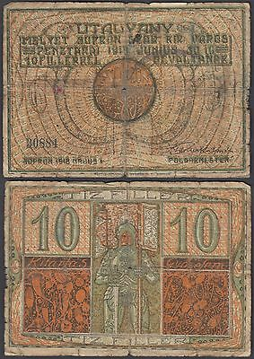 Hungary 10 Filler 1919 (1918) Sopron (VG) Condition Banknote