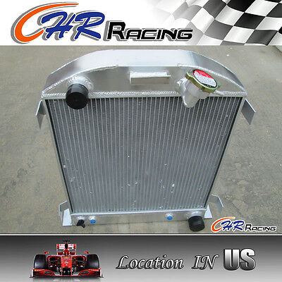 1932 fit for FORD CHOPPED CHEVY ENGINE AT 32 3 core all aluminum radiator
