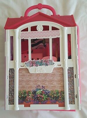 Barbie Glam Getaway House Playset with dolls bundle / folding house. Used