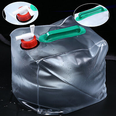 10L/20L Folding Outdoor Collapsible Drinking Water Bag Carrier Container MF