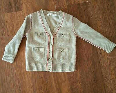 Boys size 2 100% wool Country Road jumper / cardigan