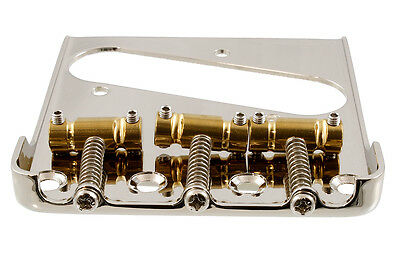 "Telecaster Bridge with Gotoh ""In Tune"" Brass Saddles for use with Bigsby Vibrato"