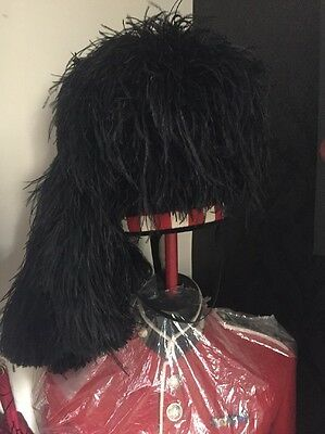 Scottish Pipers feather bonnet ,ostridge feathers 5 tails Fit 57-59 cm