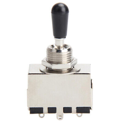 3 Way Toggle Switch Pickup Selector for LP Electric Guitar Chrome /Black Tip