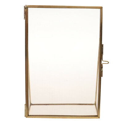 Antique Brass Glass Metal Picture Photo Frame Vintage Portrait Picture Frame New