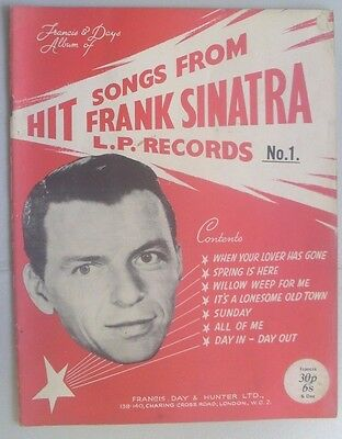 Frank Sinatra Hit Song Book Dated 1959 21-Pages With 7-Songs