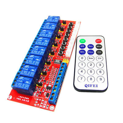 24V Infrared Receiver Relay Driver Board Module with Remote Control Switch