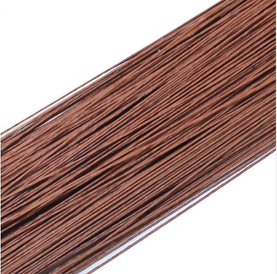 50PCS Brown #22 Paper Covered Wire DIY Nylon Stocking Flower Making