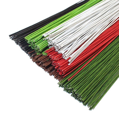 50PCS Mixed Colour #20 Paper Covered Wire DIY Nylon Stocking Flower Making