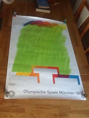 Original Vintage Munich Olympics 1972 Poster  By Richard Smith