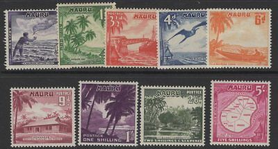 Nauru Sg48/56 1954 Definitive Set Mtd Mint