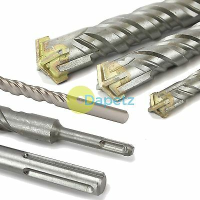 4 Head SDS Plus SDS Max Masonry Concrete Drill Bit TCT Cross-Head Double Fluted