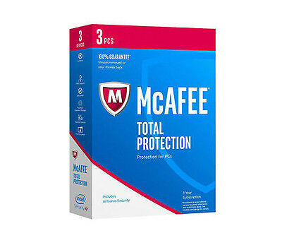 McAfee TOTAL PROTECTION 1 Year Subscription 3 PC 2017
