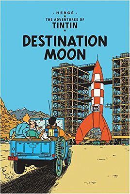 Destination Moon (The Adventures of Tintin) New Paperback Book Herge