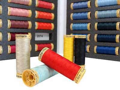 100% Natural Cotton Sewing Thread by Gutermann - 100m Reel/Spool - 40 Colours