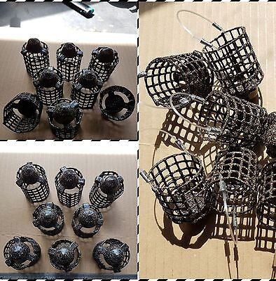 NEW 8 off 1.25oz Small Quality Handmade Bullet Distance Cage/Swim Feeders New