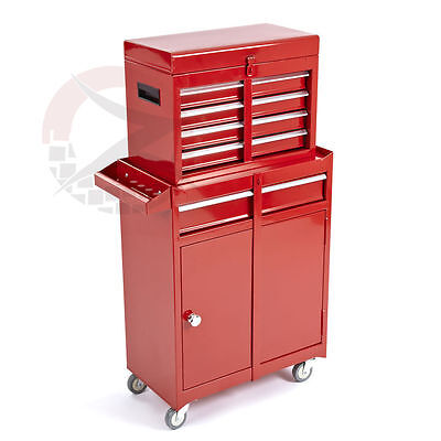 5 Drawers Portable Tool Top Chest Roller Cabinet Box & Rollcab Toolbox Storage