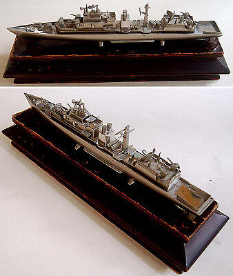 "Vintage METAL Steel BATTLESHIP 16"" MODEL Ship DESTROYER Warship TORPEDO BOAT"