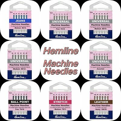 SEWING MACHINE NEEDLES Klasse Hemline Quality UNIVERSAL- Fits most machines