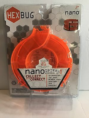 New Hexbug Nano Spiral Accessory Set Sealed Hex Bug Orange Spiral Elevated Ramp