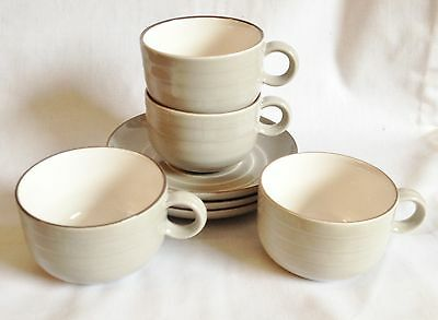 Hornsea Concept Grey Tea Cups and Saucers