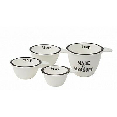 Davis & Waddell - Typeset Collection - Porcelain Measuring Cups (Set of 4)