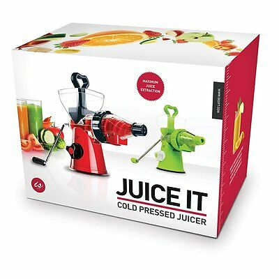 Juice It - Cold Pressed Juicer - Red