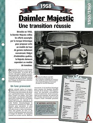 Voiture Daimler Majestic Fiche Technique Auto 1958 Collection Car