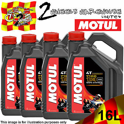 1L 2L 3L 4L 8L 12L 16L Motul 7100 10W40 Fully Synthetic Motor Cycle Bike Oil