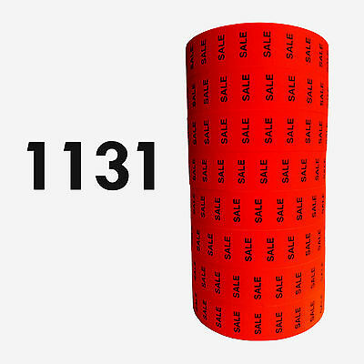 """1131 Red """"SALE"""" labels for Monarch-Paxar 1131 price gun, one line, ink included"""