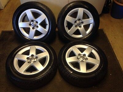 """Genuine Audi 15"""" Alloy Wheels With Excellent 195/60R15 Tyres A 3 4 5 6"""