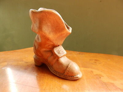 Porcelain tan boot 17th century style