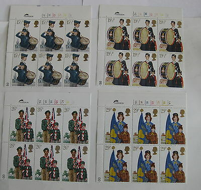 GB 1982 Youth Organisations MNH. Four blocks of six stamps SG 1179 - 1182