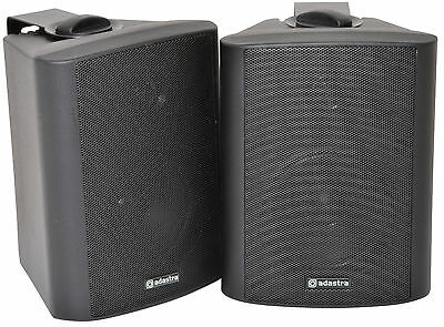 """BLACK Monitors QTX SOUND BC4-B 4"""" 70W Stereo Speakers with Brackets  (Pair)"""