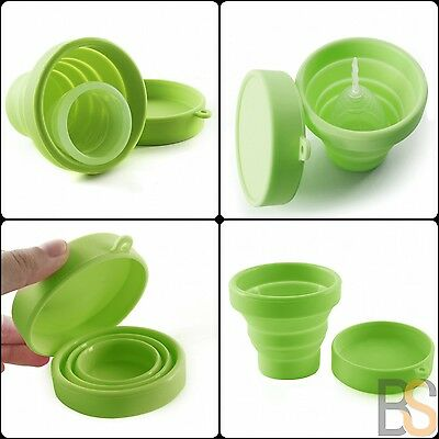 Collapsible silicone menstrual cup box Sterilizing reusable storage mug mooncup