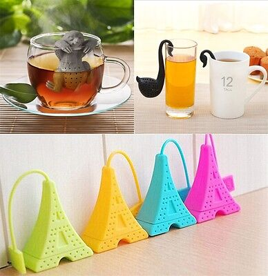 Silicone Sloth Pyramid Swan Style Tea Infuser Strainer Herbal Spice Filter