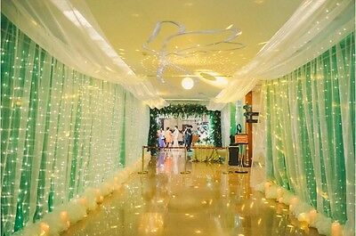 Various Sizes LED Indoor Outdoor Curtain Fairy Light String Xmas Garden Party