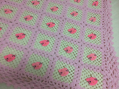 NEW Hello Kitty Sweet Pink Shawl Scarf Very Cute Handmade From Japan