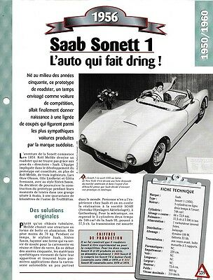 Voiture Saab Sonett 1 Fiche Technique Automobile 1956 Collection Car
