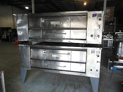 Bari Natural Gas Double Stack 6 Pie Pizza Ovens High Volume