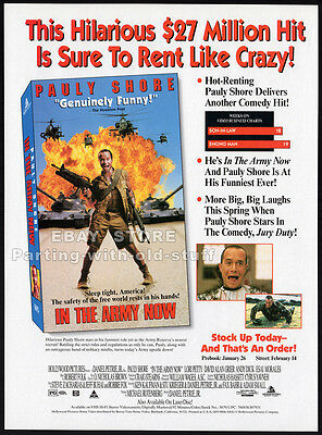 IN THE ARMY NOW__Original 1994 Trade AD movie promo__PAULY SHORE__ANDY DICK