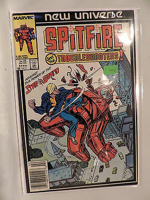 #5 Spitfire and the troubleshooters 1986 Marvel Comics C455